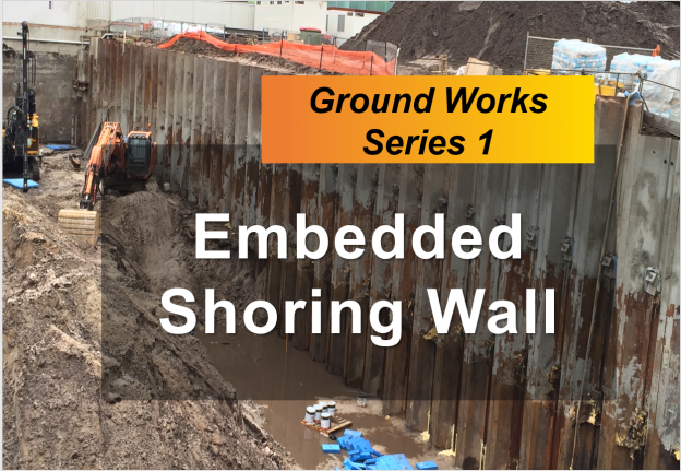 embedded shoring wall