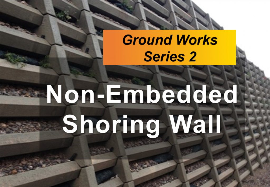non-embedded shoring wall