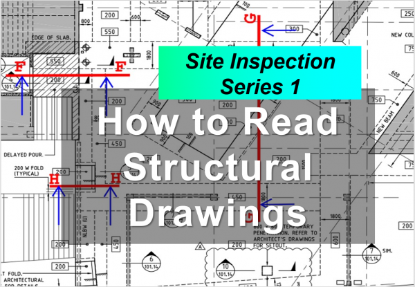how to read structural drawng